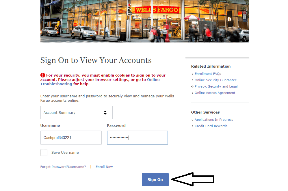 Wells Fargo Login How To Sign Up Or Login On Wells Fargo Cashprof