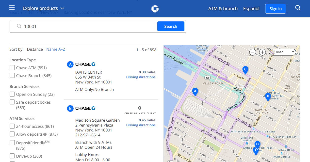 Chase Bank Near Me How To Find Chase Bank Amp Atms Near Me