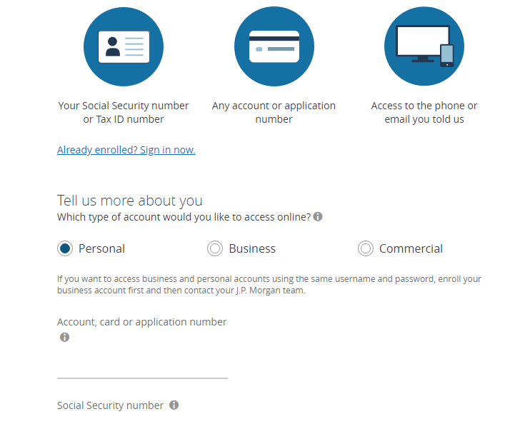 chase bank personal account login