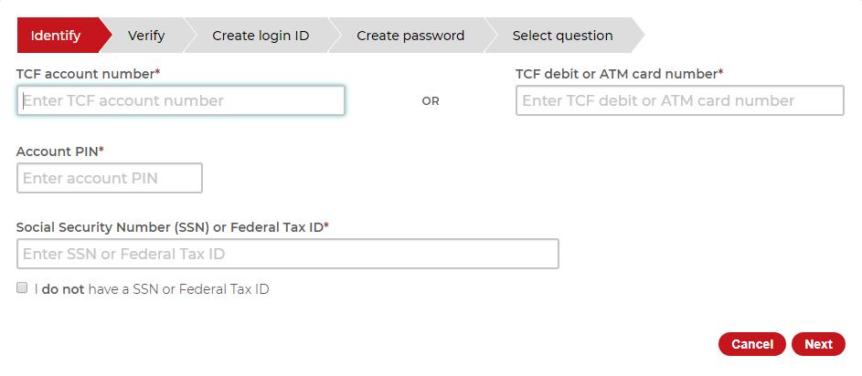 tcf bank login