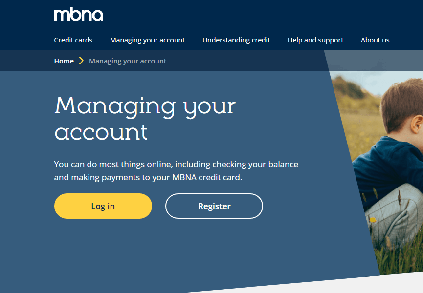MBNA credit card login guide