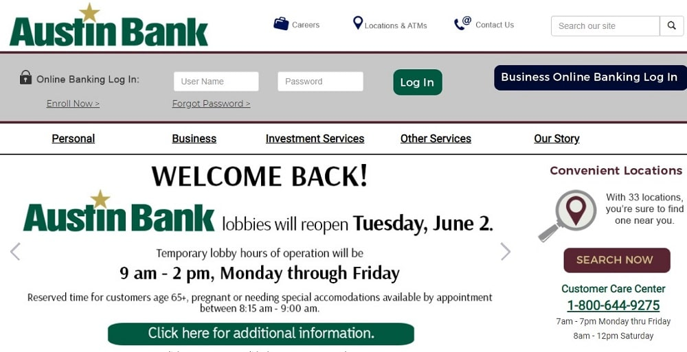Austin Bank Hours